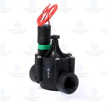 """Клапан электромагнитный Irritrol,  EURO-F, 24В, пластиковый, 1""""ВР, рег. потока - фото 11591"""