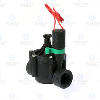"""Клапан электромагнитный Irritrol EURO-M, 24В, 3/4""""НР, рег. потока, пластиковый - фото 11593"""