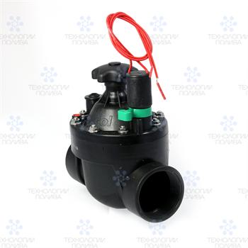 """Клапан электромагнитный Irritrol S040, 24В,  1.5""""ВР, пластиковый, рег. потока - фото 11612"""