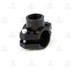 """Седелка IRRITEC Премиум,  пластиковая, с резьбовым отводом 40 мм х 1""""ВР - фото 12515"""