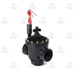 """Клапан электромагнитный Hunter,  24В, PGV-201-В, пластик, 2""""ВР, рег. потока - фото 12887"""
