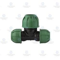 Тройник компрессионный пластиковый Irritec  Премиум 25х32х25 мм - фото 13153