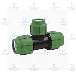 Тройник компрессионный пластиковый Irritec Премиум  50х40х50 мм - фото 13158