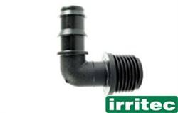 Угольник соедин. для капельной трубки, Irritec 16мм х 1/2НР  - фото 13841