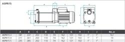 Насос повышения давления Espa-15 для системы полива 0.6 кВт, Н=32м, Р=6 бар        - фото 6135