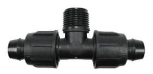 Тройник с накидн. гайками для капельных линий,  Irritec 16 х 1/2НР х 16 мм