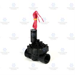 """Клапан электромагнитный Hunter,  24В, PGV-101JT-GB, пластик, 1""""ВР, рег. потока"""