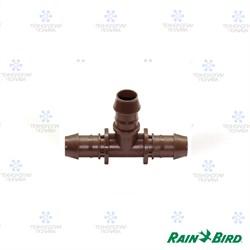 Т-образный штуцер Rain Bird XFF-TEE  17мм, для капельных линий XF и XFS  (уп. 25 шт.)