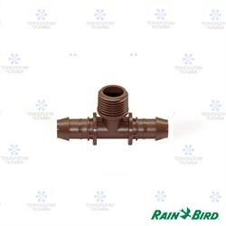 """Т-образный штуцер Rain Bird XFF-TMA-050  17мм х 1/2""""НР, для капельных линий  (уп. 25 шт.)"""