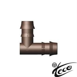 Угольник Elbow 104574 Teco для капельной линии DB 17 х17 мм