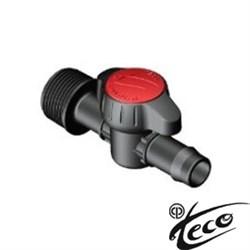 """Кран цилиндрич. Teco Testa Roja 202163  для капельной линии 16 мм х3/4""""НР"""