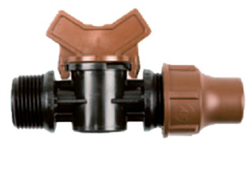 "Rain Bird BF valve lock - кран для капельных линий 3/4"" НР"